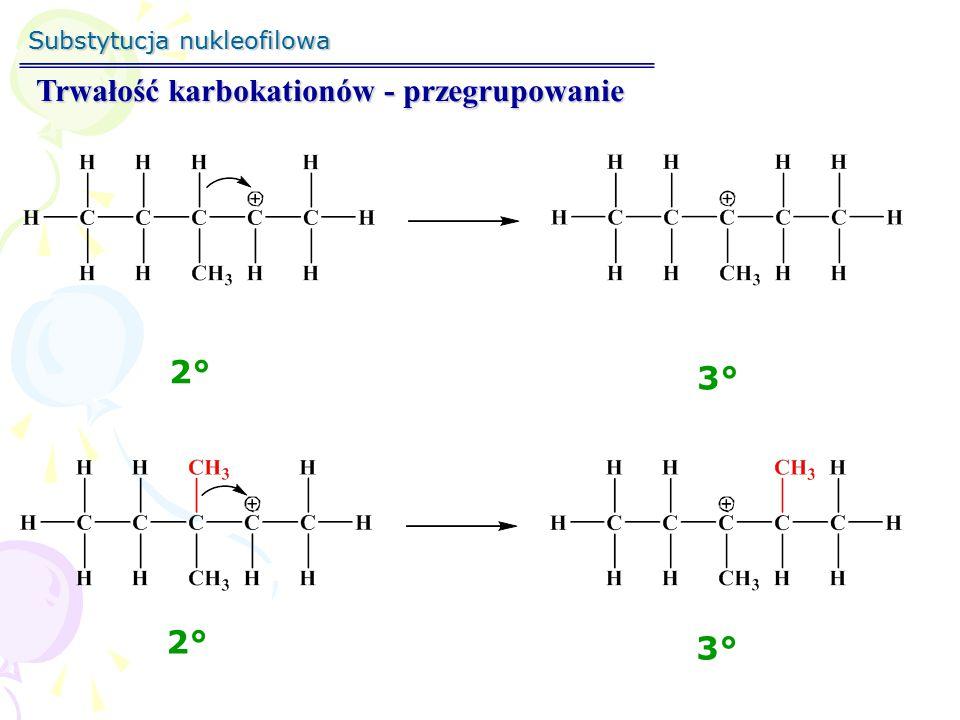Substytucja nukleofilowa S N 1 – reakcja z przegrupowaniem 1°1° 3°3°