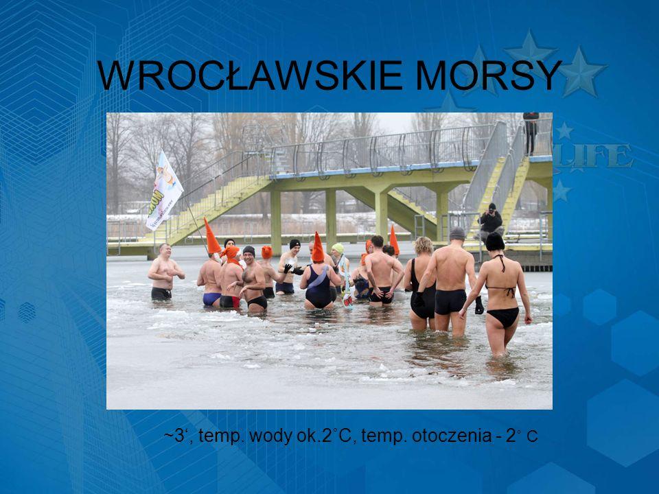 WROCŁAWSKIE MORSY ~3', temp. wody ok.2˚C, temp. otoczenia - 2 ˚ C
