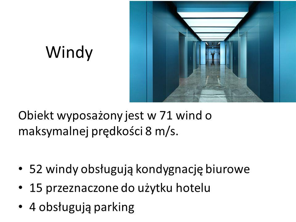 Windy Obiekt wyposażony jest w 71 wind o maksymalnej prędkości 8 m/s.