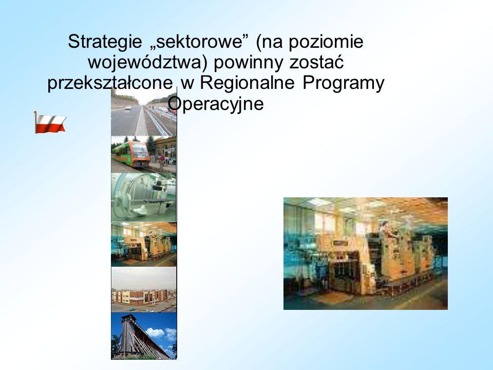 """Strategie """"sektorowe"""" (na poziomie województwa) powinny zostać przekształcone w Regionalne Programy Operacyjne"""