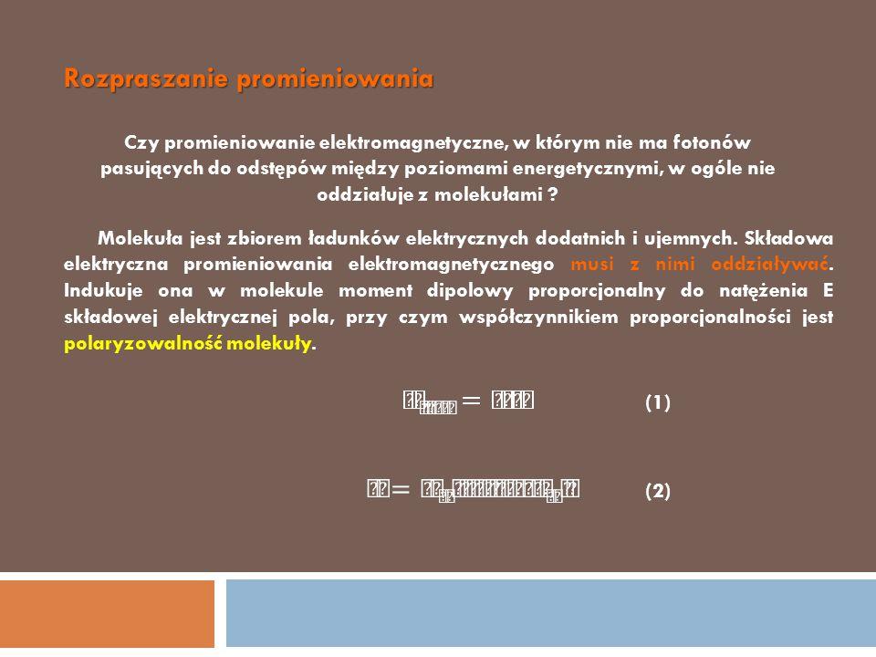(3) (4) rozpraszaniem promieniowania Opisane zjawisko nazywamy rozpraszaniem promieniowania Ilustracja rozpraszania