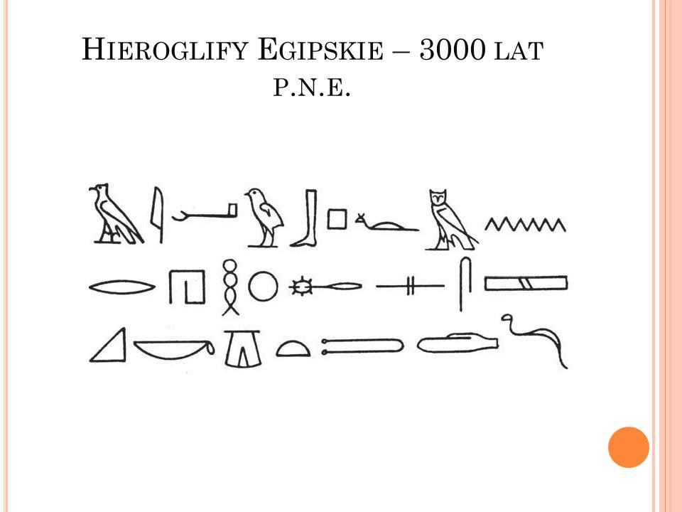 H IEROGLIFY E GIPSKIE – 3000 LAT P. N. E.