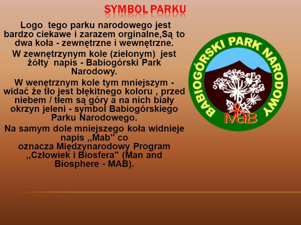 Logo tego parku narodowego jest bardzo ciekawe i zarazem orginalne,Są to dwa koła - zewnętrzne i wewnętrzne.
