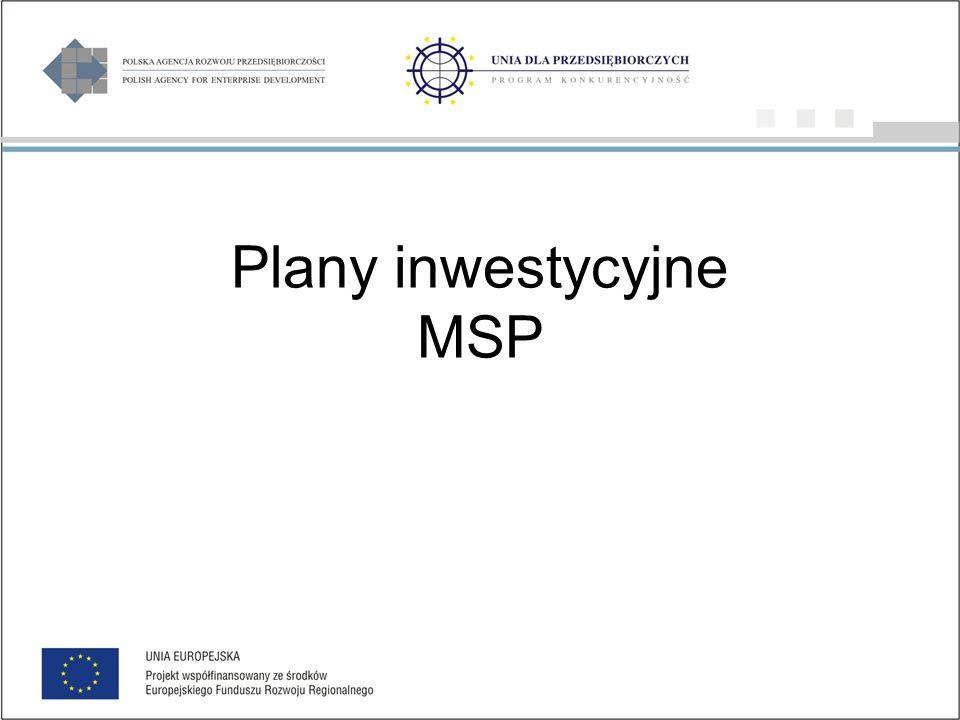 Plany inwestycyjne MSP