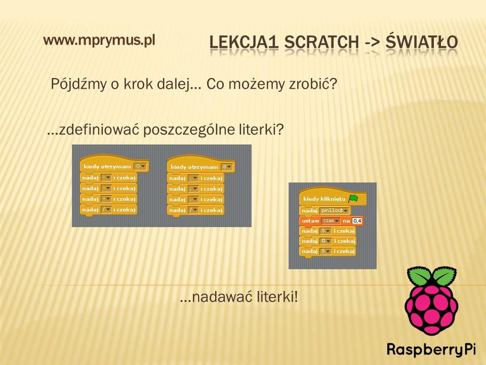 Pójdźmy o krok dalej… Co możemy zrobić? www.mprymus.pl …zdefiniować poszczególne literki? …nadawać literki!