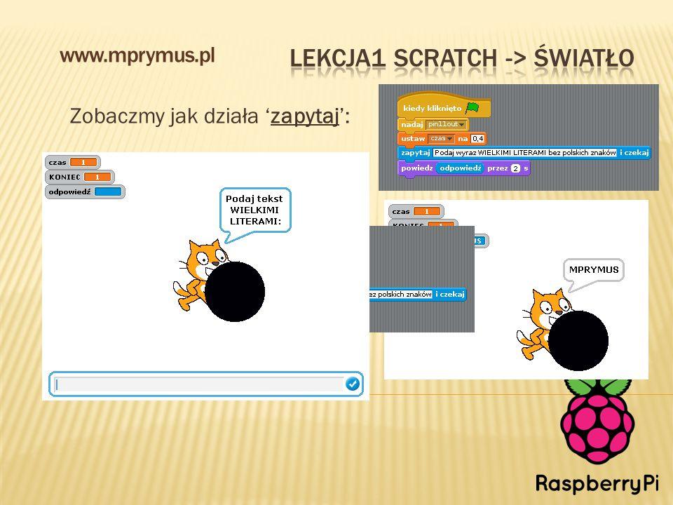 Zobaczmy jak działa 'zapytaj': www.mprymus.pl