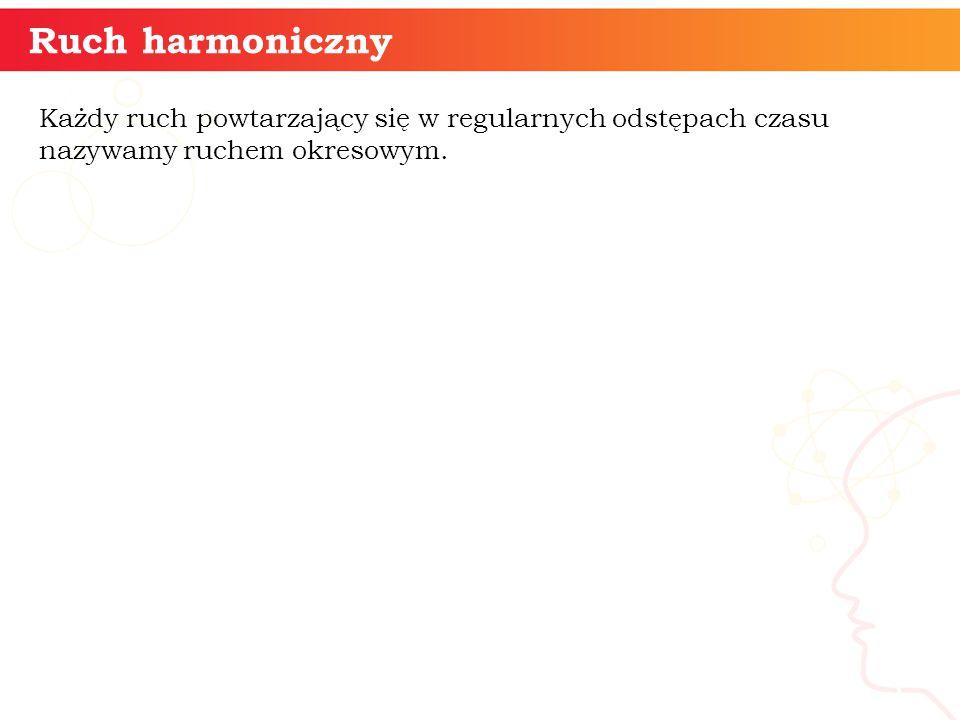 Ruch harmoniczny informatyka + 3 Każdy ruch powtarzający się w regularnych odstępach czasu nazywamy ruchem okresowym.