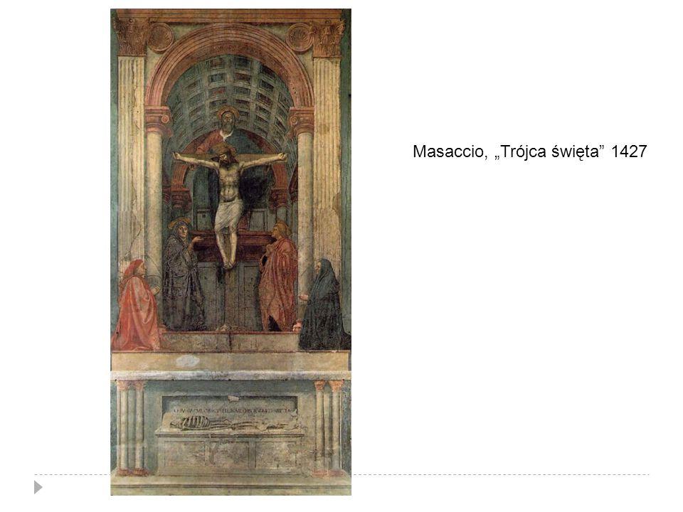 """Masaccio, """"Trójca święta"""" 1427"""