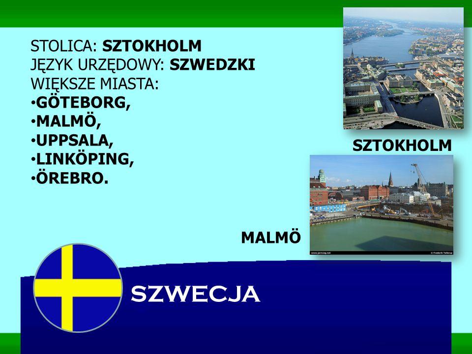 SZWECJA Szwecja leży w północnej Europie na Półwyspie Skandynawskim.
