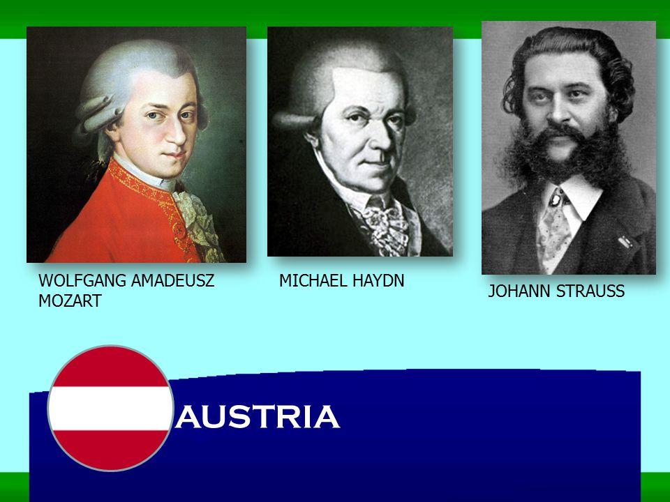 AUSTRIA WOLFGANG AMADEUSZ MOZART MICHAEL HAYDN JOHANN STRAUSS