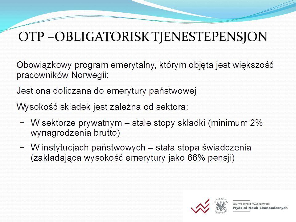 OTP –OBLIGATORISK TJENESTEPENSJON