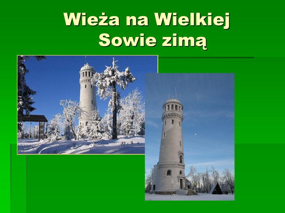 Wieża na Wielkiej Sowie zimą Wieża na Wielkiej Sowie zimą