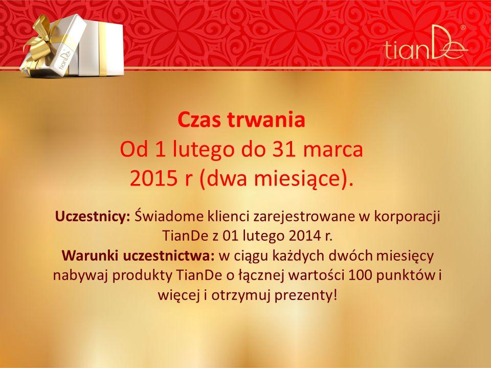 Uczestnicy: Świadome klienci zarejestrowane w korporacji TianDe z 01 lutego 2014 r.