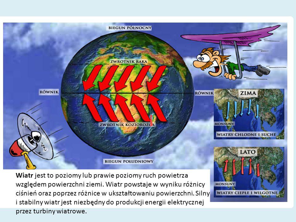 Wiatr jest to poziomy lub prawie poziomy ruch powietrza względem powierzchni ziemi. Wiatr powstaje w wyniku różnicy ciśnień oraz poprzez różnice w uks