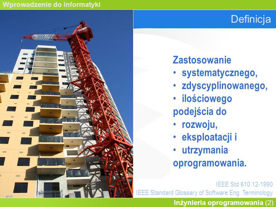 Wprowadzenie do informatyki Inżynieria oprogramowania (23) www.uml.org