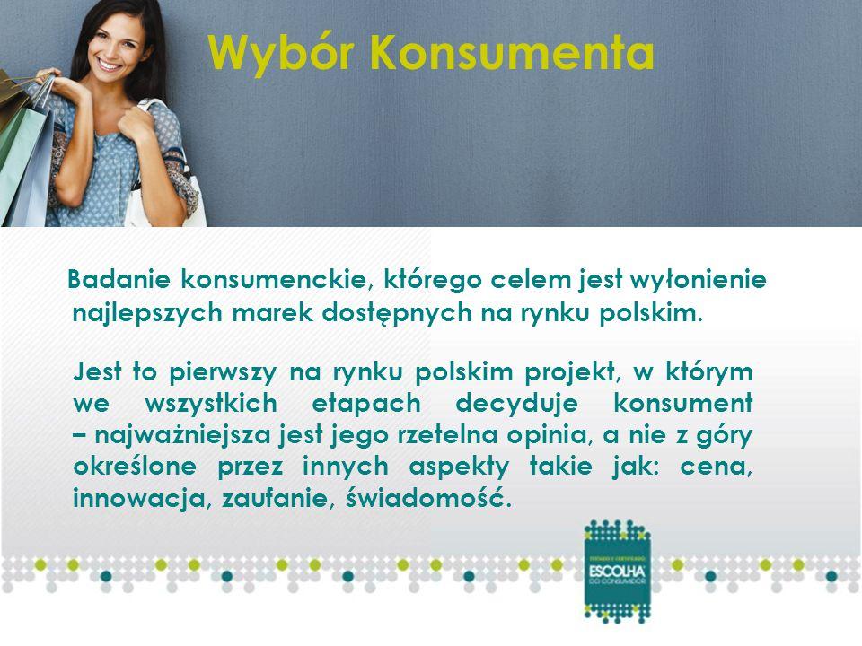 Badanie konsumenckie, którego celem jest wyłonienie najlepszych marek dostępnych na rynku polskim.