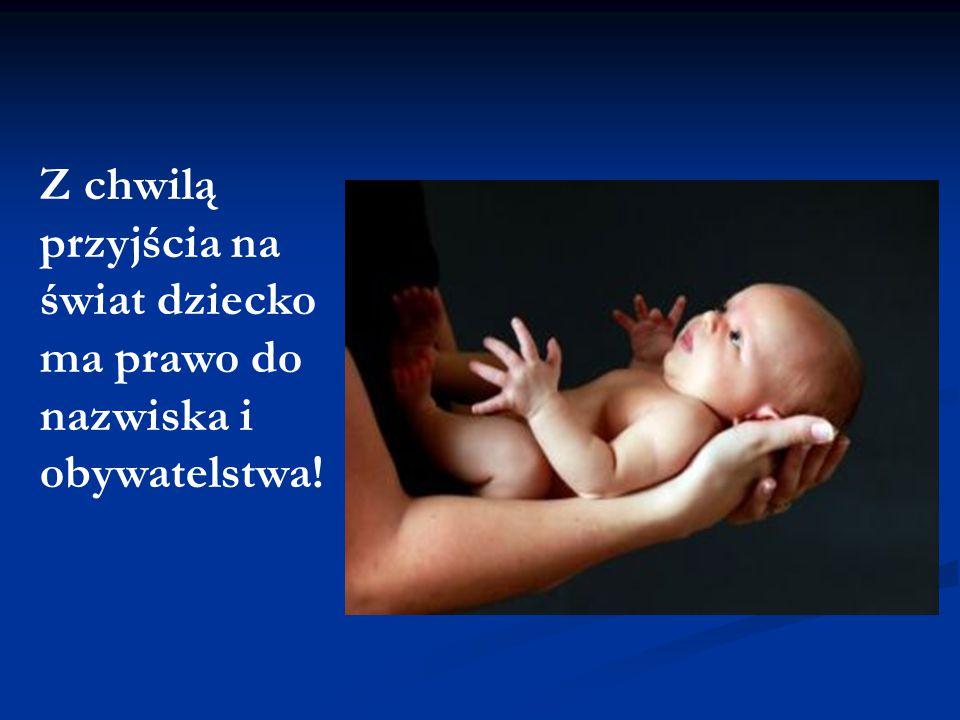 Z chwilą przyjścia na świat dziecko ma prawo do nazwiska i obywatelstwa!
