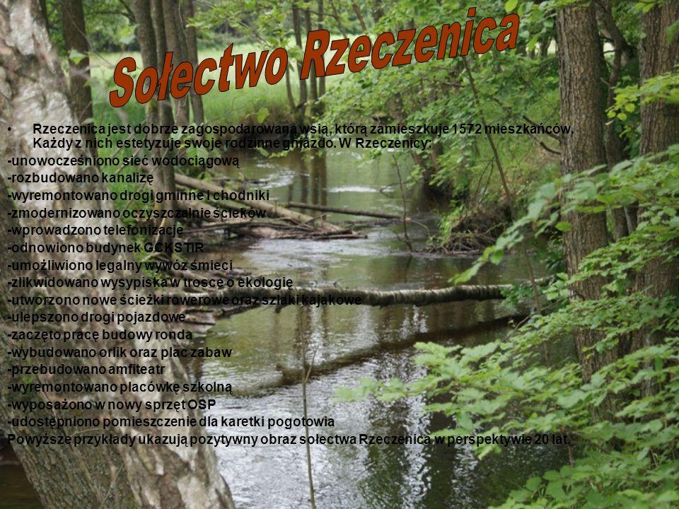 Rzeczenica jest dobrze zagospodarowaną wsią, którą zamieszkuje 1572 mieszkańców.