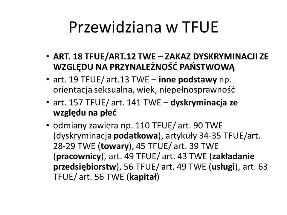 Przewidziana w TFUE ART.