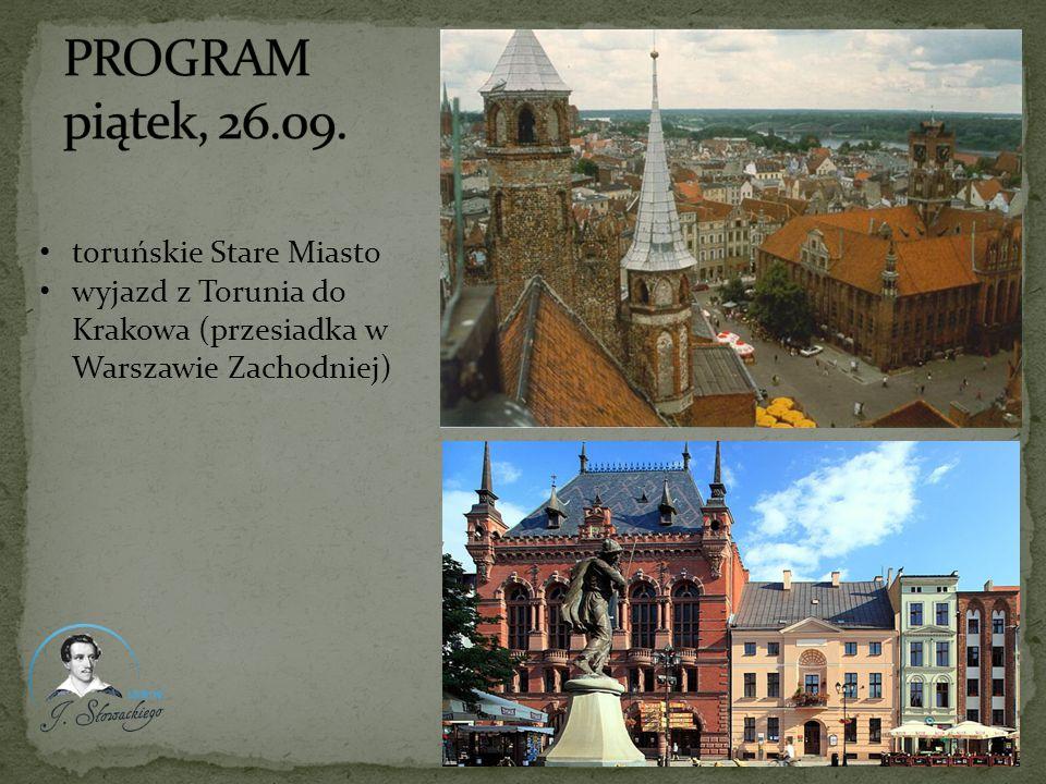 wyjazd z Torunia do Krakowa (przesiadka w Warszawie Zachodniej)