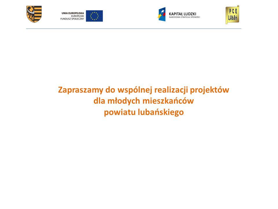 Zapraszamy do wspólnej realizacji projektów dla młodych mieszkańców powiatu lubańskiego