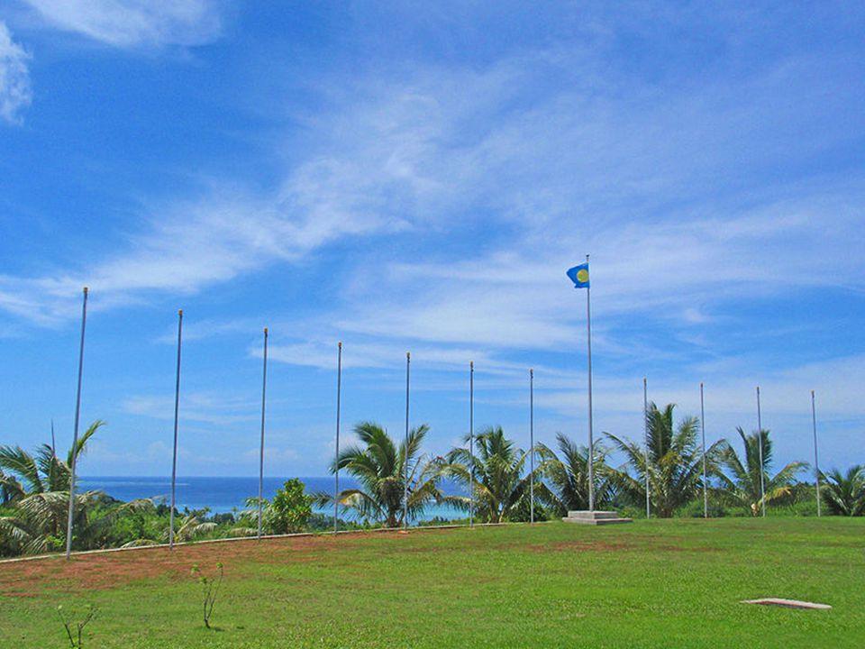 Widok z budynków rządowych na wybrzeże