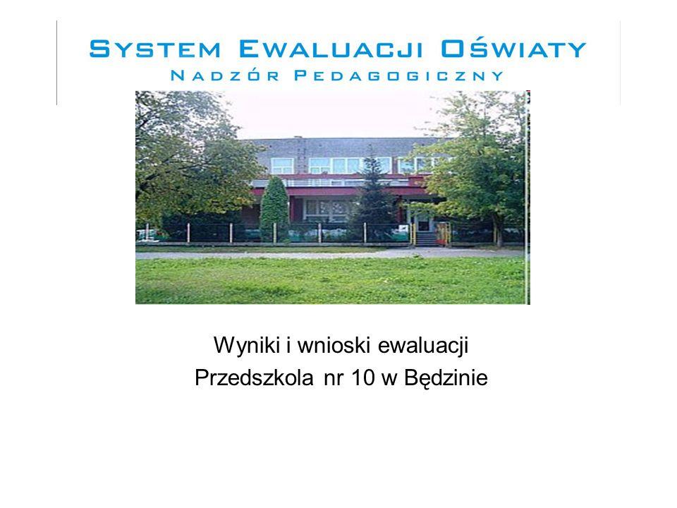 EWALUACJA ZEWNĘTRZNA Ewaluacja problemowa w wymaganiu:,,Promowana jest wartość wychowania przedszkolnego'' na mocy Rozporządzenia Ministra Edukacji Narodowej z dnia 7 października 2009 r.