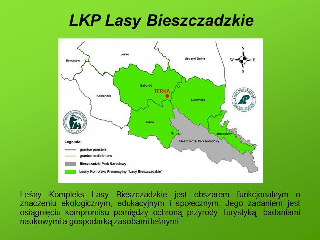 LKP Lasy Bieszczadzkie Leśny Kompleks Lasy Bieszczadzkie jest obszarem funkcjonalnym o znaczeniu ekologicznym, edukacyjnym i społecznym. Jego zadaniem