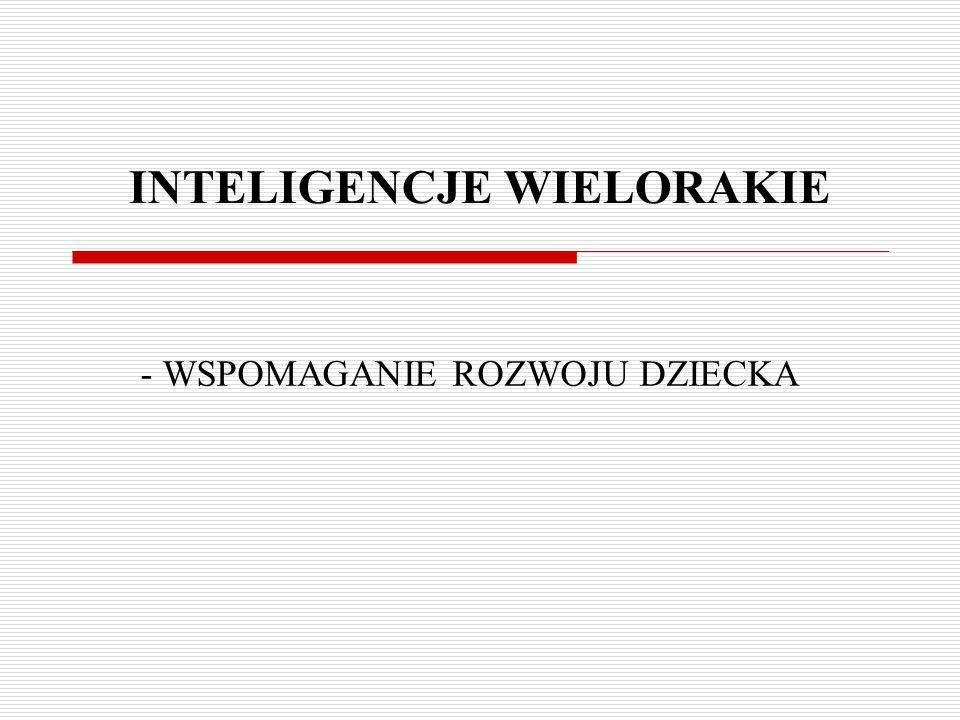 - WSPOMAGANIE ROZWOJU DZIECKA INTELIGENCJE WIELORAKIE