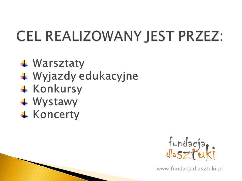 Wwww.fundacjadlasztuki.pl Rozwijają wyobraźnię, kreatywność, abstrakcyjne myślenie Poprawiają zdolności manualne Zwiększają samoocenę Ujawniają ukryte talenty Ukazują możliwości rozwoju