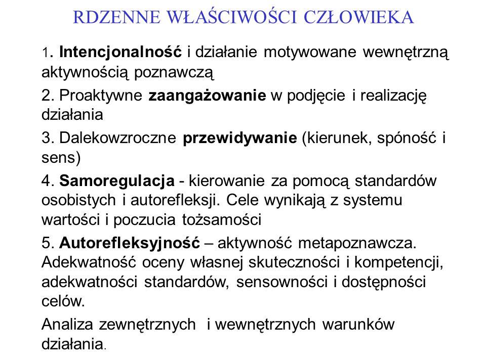 RDZENNE WŁAŚCIWOŚCI CZŁOWIEKA 1.