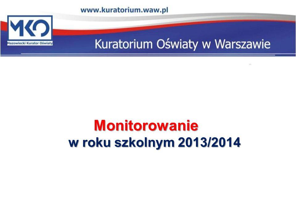 Monitorowanie w roku szkolnym 2013/2014