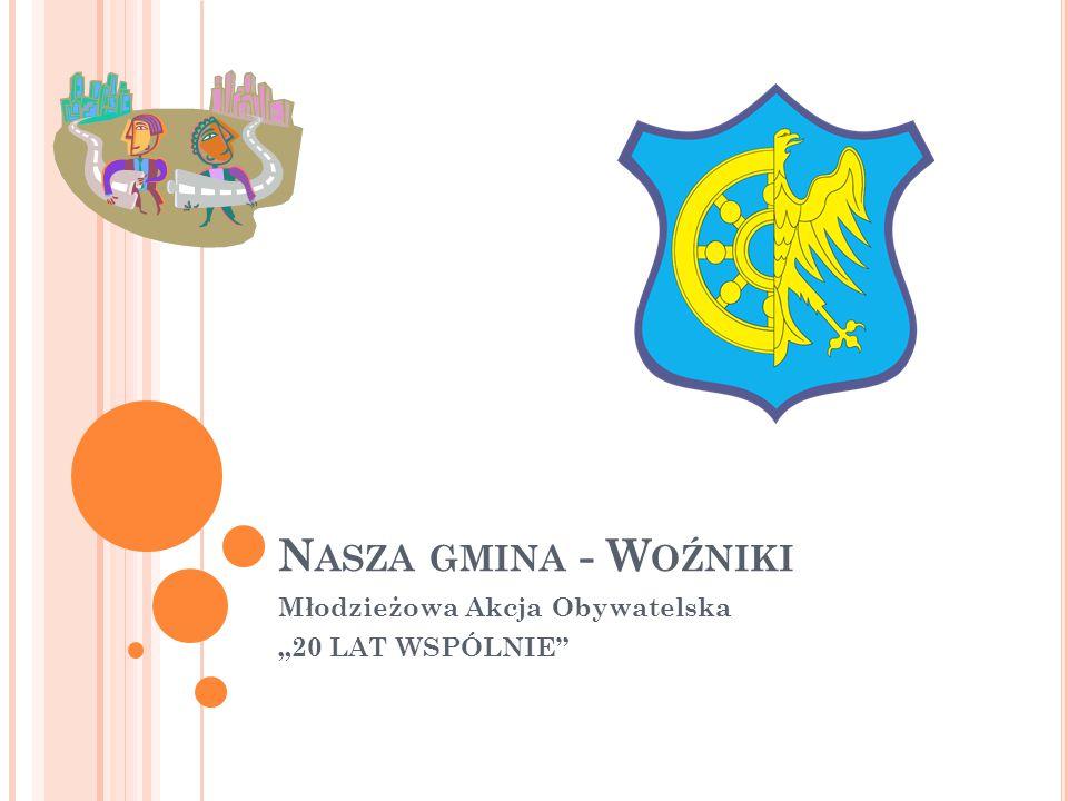 """N ASZA GMINA - W OŹNIKI Młodzieżowa Akcja Obywatelska """"20 LAT WSPÓLNIE"""