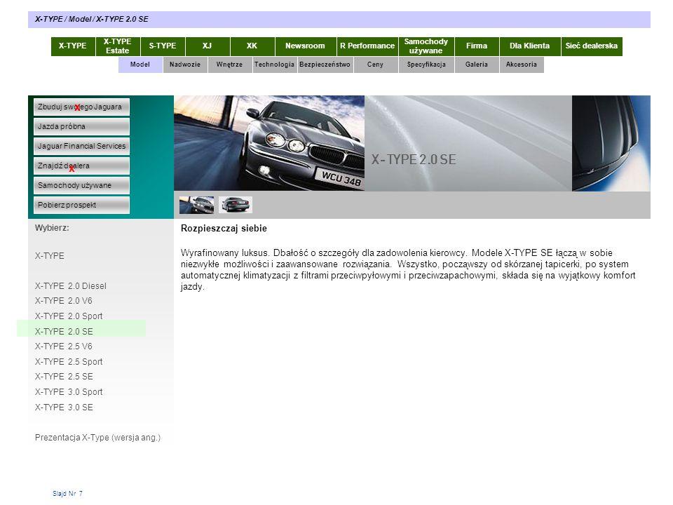 Slajd Nr 58 X-TYPE Estate S-TYPEXJXKR Performance Samochody używane Dla KlientaSieć dealerskaNewsroomFirma ModelTechnologiaBezpieczeństwoCenySpecyfikacjaGaleriaAkcesoriaWnętrze X-TYPE / Akcesoria / Felgi Zbuduj swojego Jaguara Jazda próbna Jaguar Financial Services Znajdź dealera Samochody używane Pobierz prospekt x x Wybierz: Specyfikacja X-TYPE 2.0 Diesel Akcesoria X-TYPE Prospekty X-TYPE w pdf Wyposażenie elektroniczne Wyposażenie sportowe Stylizacja wnętrza Felgi Przewożenie / holowanie Rozmieszczenie bagażu Wyposażenie turystyczne wewn.