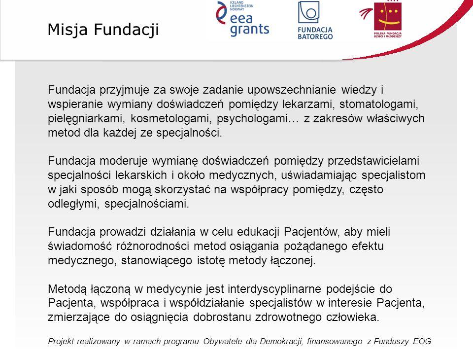 Fundacja przyjmuje za swoje zadanie upowszechnianie wiedzy i wspieranie wymiany doświadczeń pomiędzy lekarzami, stomatologami, pielęgniarkami, kosmetologami, psychologami… z zakresów właściwych metod dla każdej ze specjalności.