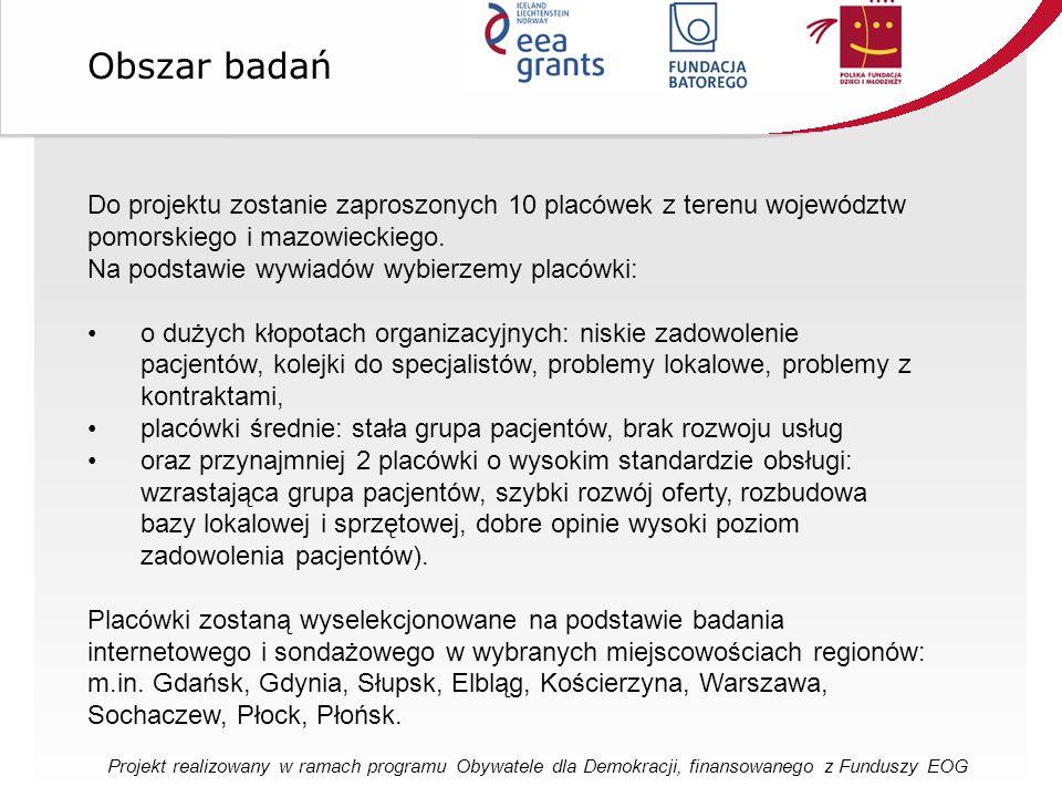 Do projektu zostanie zaproszonych 10 placówek z terenu województw pomorskiego i mazowieckiego.