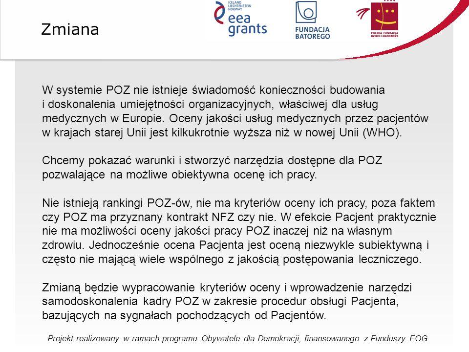 W systemie POZ nie istnieje świadomość konieczności budowania i doskonalenia umiejętności organizacyjnych, właściwej dla usług medycznych w Europie.