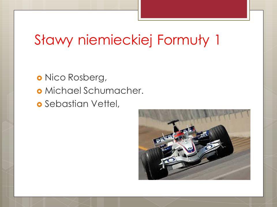 Sławy niemieckiej Formuły 1  Nico Rosberg,  Michael Schumacher.  Sebastian Vettel,