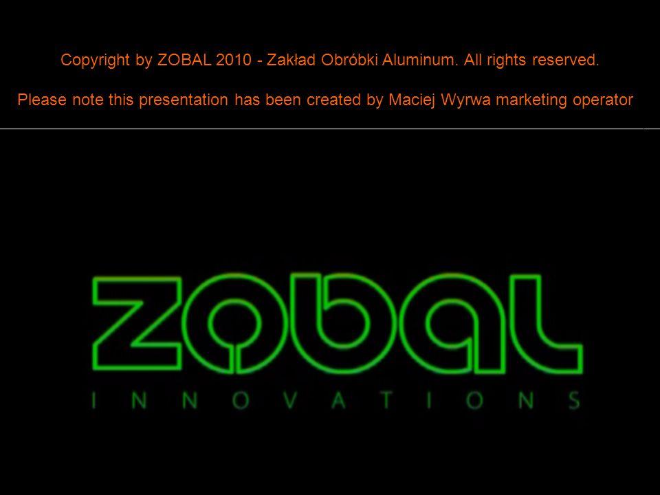 Wykonał: Maciej Wyrwa20/32 Zakład Obróbki Aluminium – ZOBAL 2009