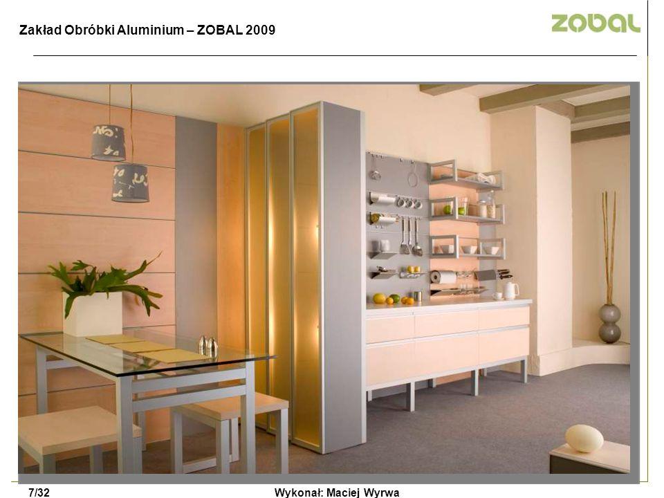 Wykonał: Maciej Wyrwa7/32 Zakład Obróbki Aluminium – ZOBAL 2009