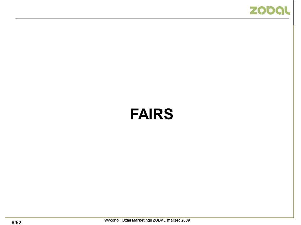 6/52 FAIRS Wykonał: Dział Marketingu ZOBAL marzec 2009
