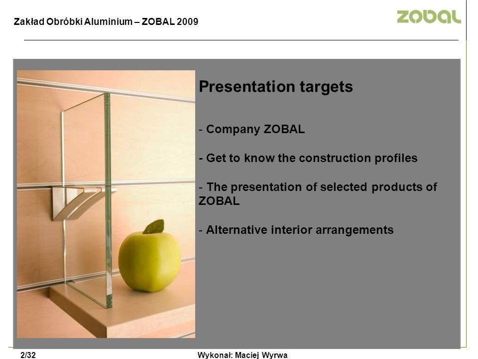 Modi 120 + LCD Wykonał: Maciej Wyrwa8/32 LCD TV Wall Bracket Zakład Obróbki Aluminium – ZOBAL 2009