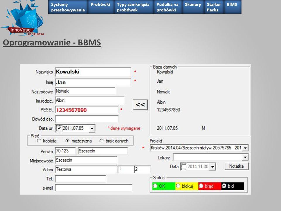 Oprogramowanie - BBMS