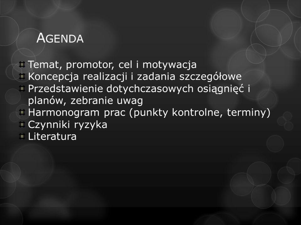 L ITERATURA Wykłady dra inż.M. Miki Prace dyplomowe absolwentów PP Materiały dydaktyczne mgr.