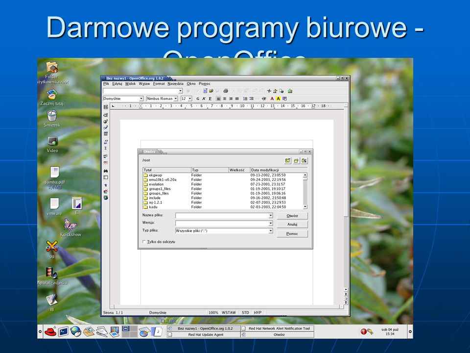 Darmowe programy biurowe - OpenOffice