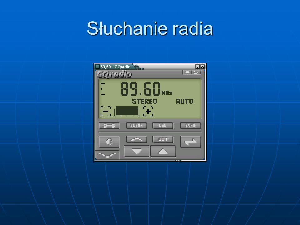 Słuchanie radia