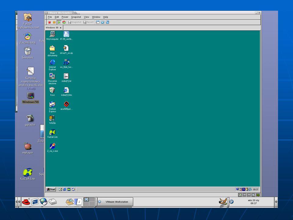 Emulacja Windows (vmware)