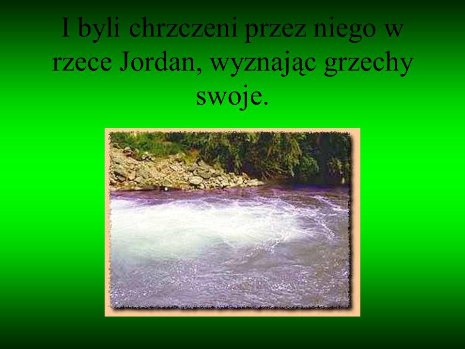 I byli chrzczeni przez niego w rzece Jordan, wyznając grzechy swoje.