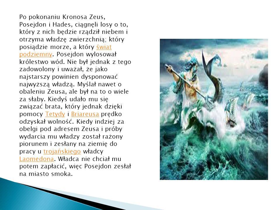 Siedziba Posejdona znajdowała się na środku morza wewnętrznego (Morze Śródziemne).