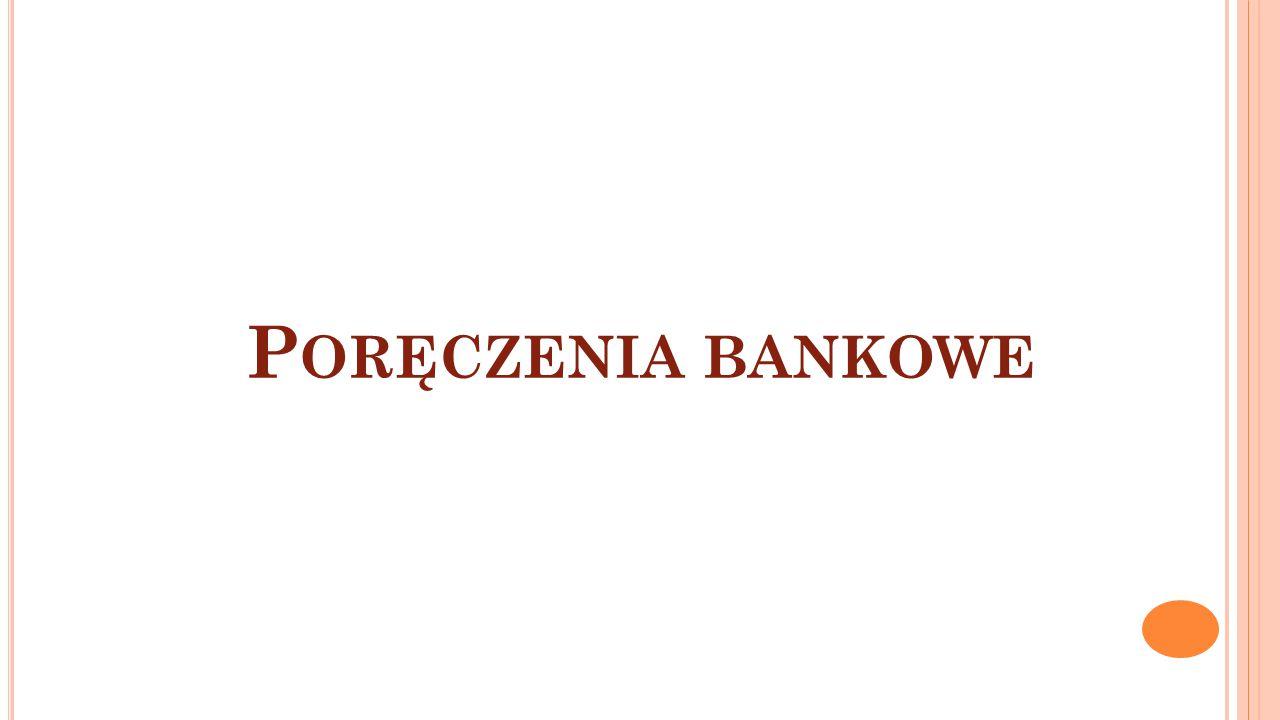 P ORĘCZENIA BANKOWE
